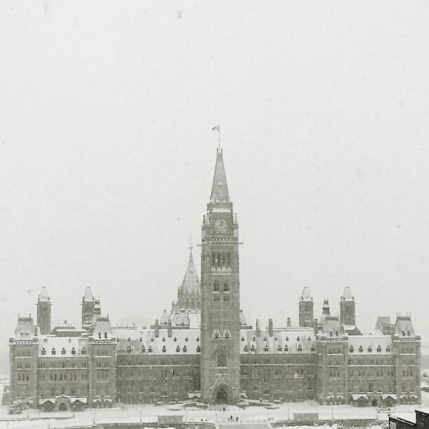 Snowy #Ottawa.