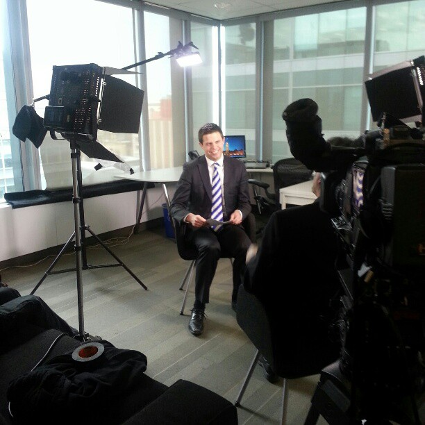 Doing a documentary news piece for CTV