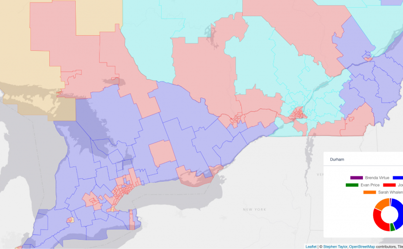 Political maps and data for Canadian electors!